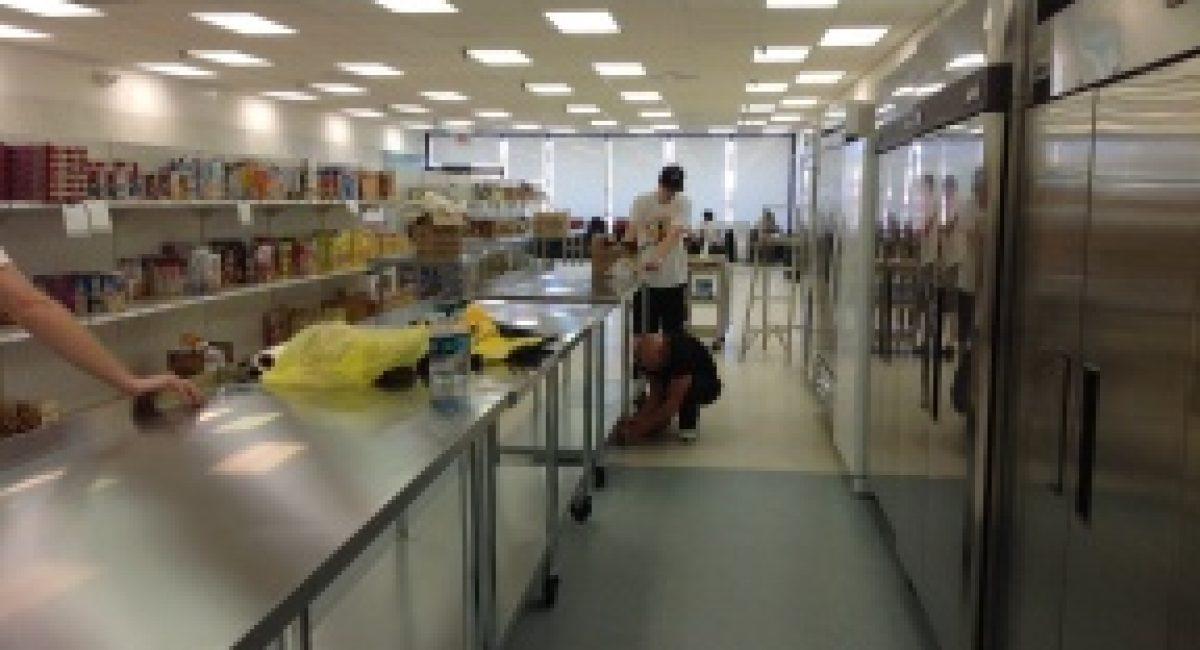 food aisle and freezers